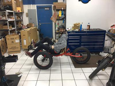 Full Suspension Recumbent Fat Tire Trike New Ebike