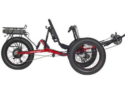 Fat Tire Full Suspension Recumbent Trike Ebike New