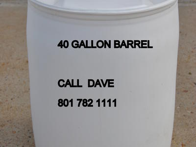 d92d668daf8 40 Gallon Water storage barrels SAFE HDPE2 food grade RINSED OUT water  supply