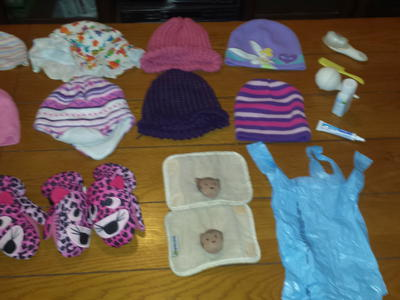 Baby Girl Hats, Gloves and other items