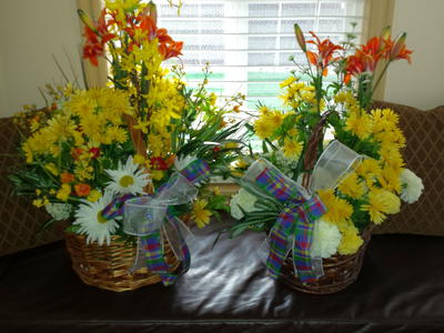 Artificial Flower Baskets