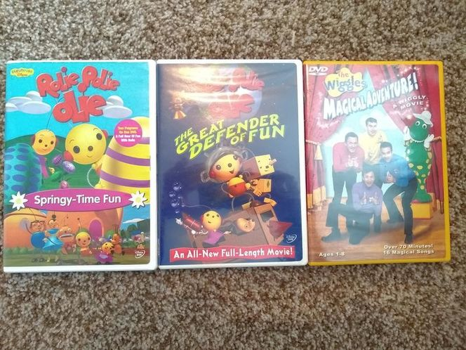 2-Rolie Polie Olie DVDs and 1-The Wiggles DVD for sale in Sandy , UT
