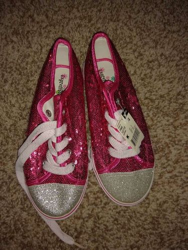 Brand NEW Expressions sequin and sparkly girls shoes size 4 for sale in Sandy , UT