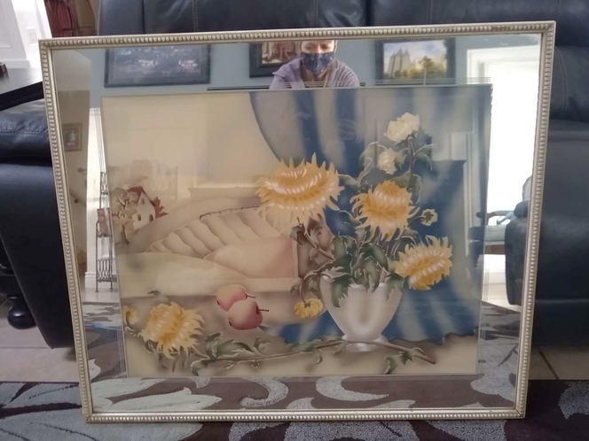 Antique mirror framed picture for sale in Sandy , UT