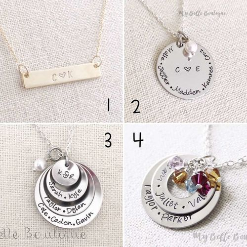 Personalized HandStamped necklace stocking stuffer for sale in Sandy , UT