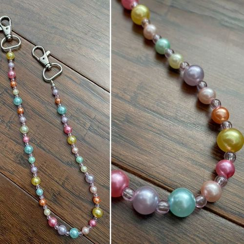 Beaded mask lanyard chains with lobster clasp for sale in Sandy , UT