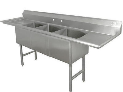 Stainless Steel NSF Sinks 1, 2, and 3 compartments