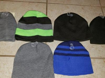 6 brand new baby beanies for sale!