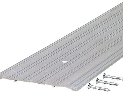 "Pemko Aluminum Fluted Saddle Threshold, Mill Finish, 6""W x 36""L x 1/4""H"
