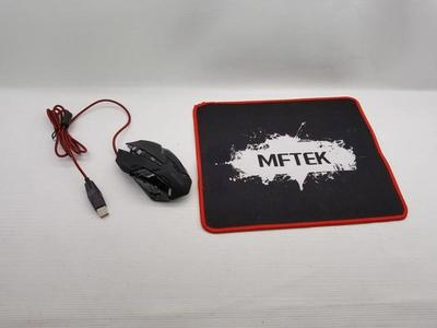 MFTEK Gaming mouse and pad