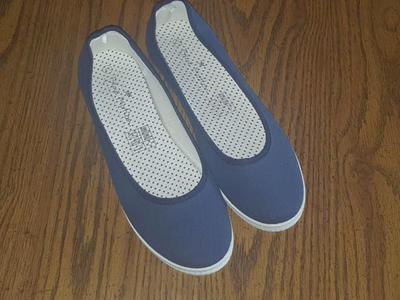 Blue Ballerinas / flat shoe