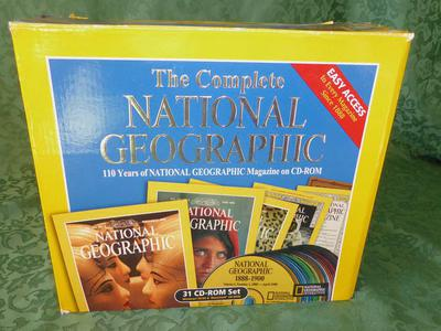 110 Years of  The National Geographic CD- ROM  Set