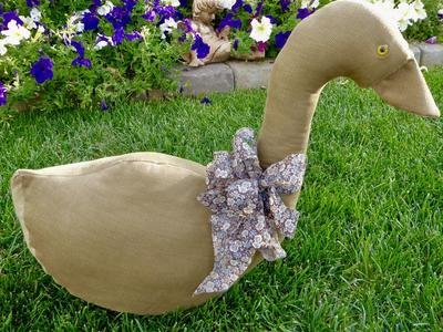 Vintage Stuffed Fabric Cloth Goose / Duck 4 Decor
