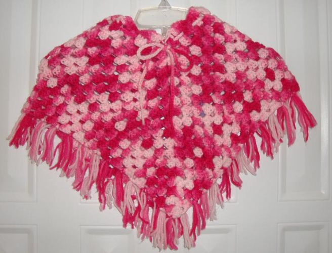 Little Girl Pink Crochet Spring-Summer-Fall Yarn Poncho / Sweater for sale in Taylorsville , UT