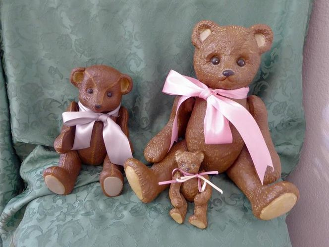 Vintage Ceramic / Pottery Jointed Teddy Bear Dolls Decor Lot for sale in Taylorsville , UT