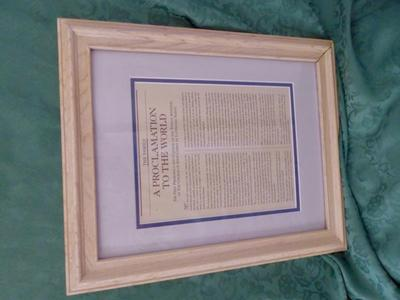 Wooden Framed LDS Proclamation To the World
