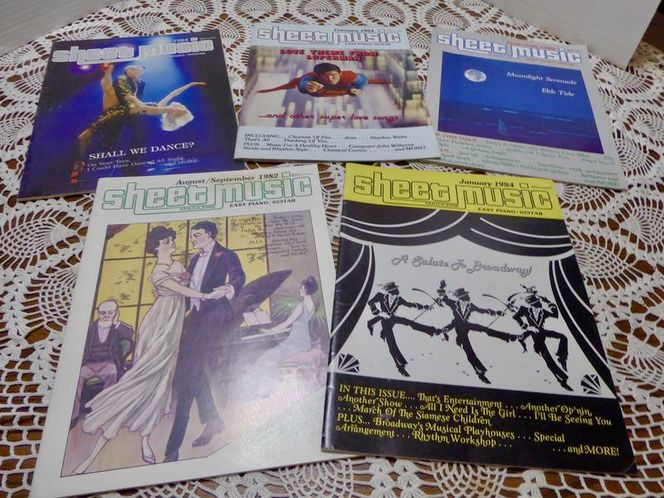 5 Vintage Piano / Guitar Sheet Music Magazines for sale in Taylorsville , UT