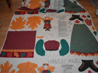 4 Harvest Angel Wall Or Door Fabric Panels To Make For Fall