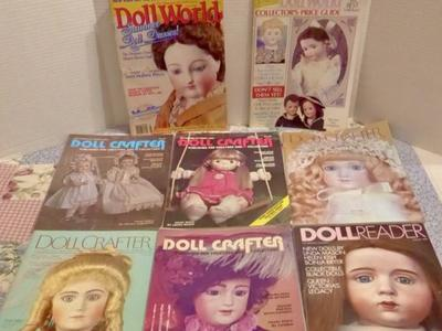 Several Doll Crafter + Doll World Magazines + More