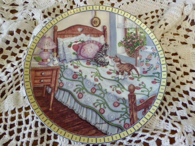 1991 Cozy Country Corners -Edwin M. Knowles Fine China Collectors Kitten / Cats Plate Series By Hannah Hollister Ingmire for sale in Taylorsville , UT