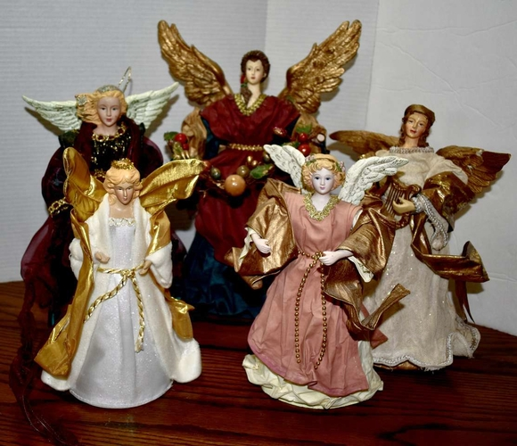 Several Vintage Tree Top Christmas Nativity Angels Dolls for sale in Taylorsville , UT