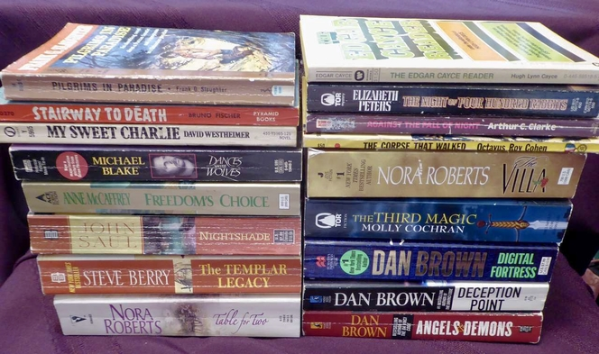 Assorted Paperback Books Dan Brown, Nora Roberts, Michael Blake & More- Updated List~ for sale in Taylorsville , UT