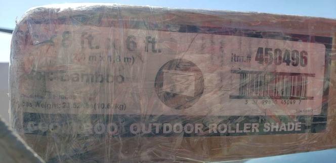 Coolaroo 72-in Slat Width 72-in x 92-in Cordless Bamboo High-density Polyethylene Light Filtering Vertical Blinds Outdoor for sale in Salt Lake City , UT