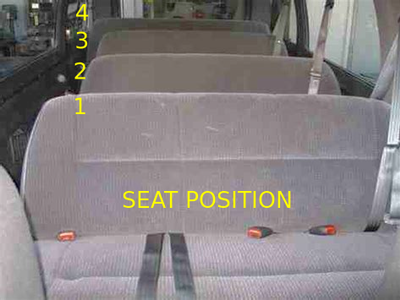 2000 dodge 15 passenger van bench seats. 4 of them