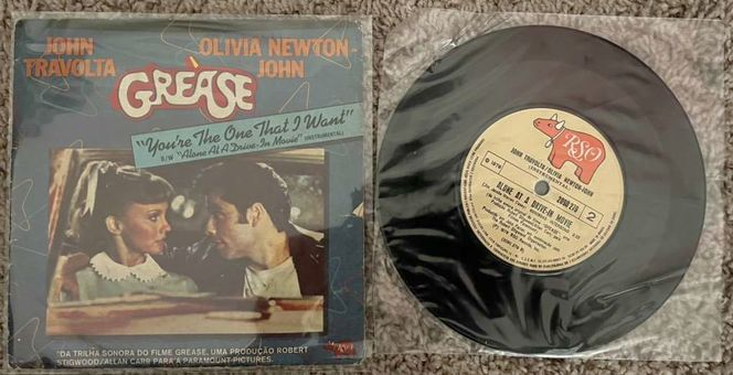 Grease Mini Vinyl Record - Travolta Olivia Newton for sale in Sandy , UT