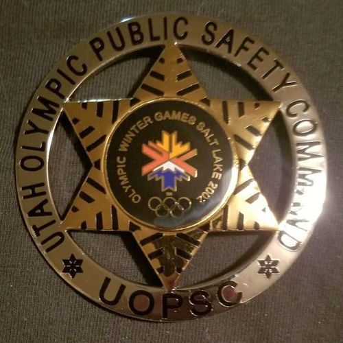 2002 SLC Olympic safety commission badge for sale in Salt Lake City , UT