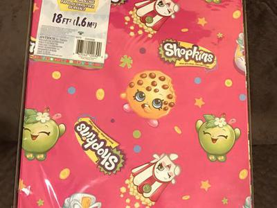 Shopkins Gift Wrap (4 Available)!