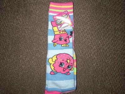 1a2a0f86f19 Shopkins Knee-High Socks 2 Pair! Sizes 9-11!