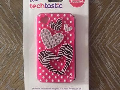 "Justice techtastic iPod Touch 4 ""Heart"" Case!"