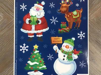 Christmas Window Clings! 13 PC! Brand New!