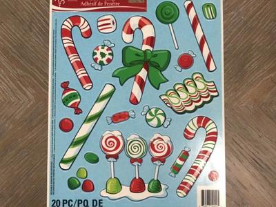 Christmas Window Clings! 20 PC! 4 Available!
