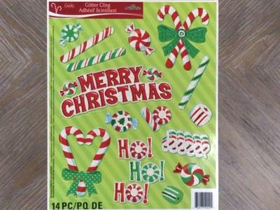 Christmas Window Cling! 14 PC! Brand New!
