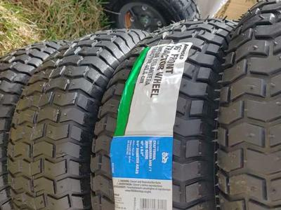 Brand new, tubeless front riding mower