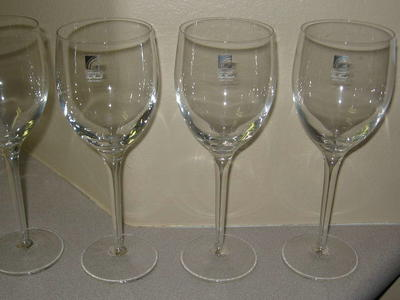 Vintage Crystal Luigi Bormioli Light and Music Wine Glasses
