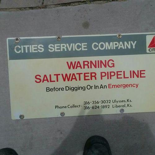 Cities service pipeline Sign for sale in West Jordan , UT