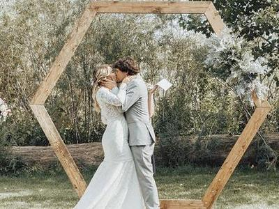 Hexagon Wedding Backdrop, Geometric Wedding, Boho
