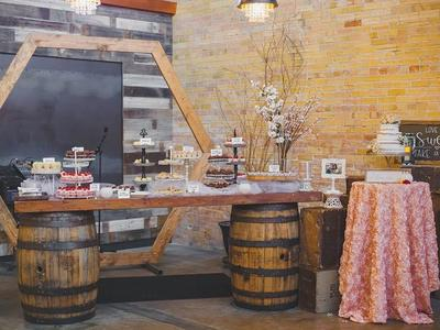 Whiskey Barrel Bar, Wedding Serving Bar, Rustic