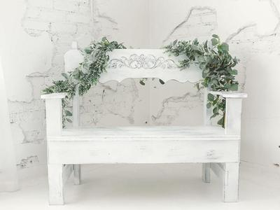 Wedding Rentals, Wedding Bench for Gifts, Cards