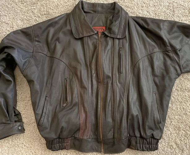 Mens XL Vintage Style Heavy Leather Jacket for sale in Salt Lake City , UT