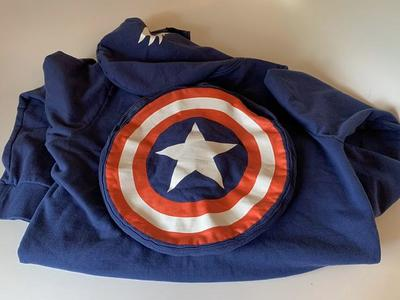Captain America w Mask Hoodie & Shield Mens Large