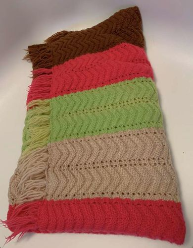 Hand Knitted Throw/ Afghan Sweater Blanket for sale in Salt Lake City , UT