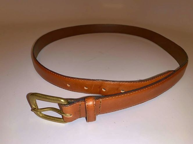 """Leather Belt By Claiborne 39"""" Brown w Brass Buckle for sale in Salt Lake City , UT"""