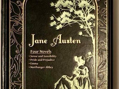 Leather Bound Hardcover Jane Austen Four Books