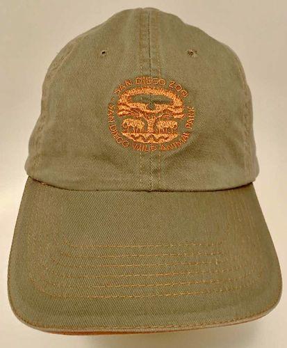 San Diego Zoo Ball Hat Cap Green Khaki W Orange for sale in Salt Lake City , UT
