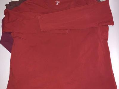 4 Long Sleeve Tee's Size 2X 95/5 Cotton/spandex