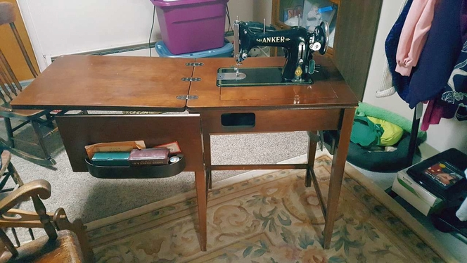 Vintage Anker Sewing Machine with it Original Cabinet for sale in Kemmerer , WY